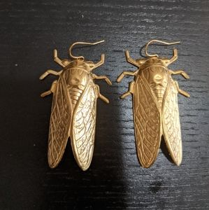 Fun golden locust earrings